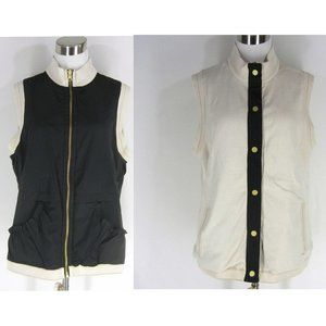 ZENERGY CHICO'S Vest Sleeveless Jacket 2 L Reversi